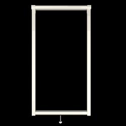 Moustiquaire sur-mesure enroulable fenêtre Kocoon Premium détaillée blanc