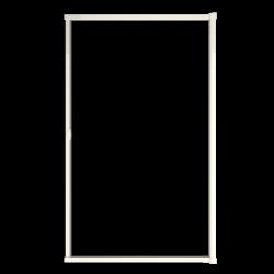 Moustiquaire porte sur-mesure enroulable latérale kocoon blanc détail 2