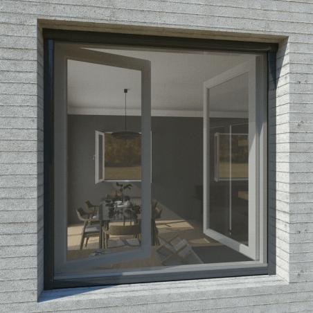 Moustiquaire sur-mesure enroulable fenêtre Kocoon anthracite 1