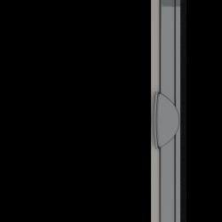 Moustiquaire porte enroulable latérale kocoon antracite Zoom A