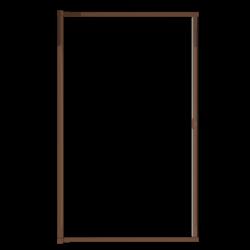 Moustiquaire porte enroulable latérale kocoon marron détail 1