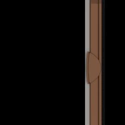 Moustiquaire porte enroulable latérale kocoon marron Zoom A