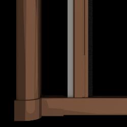 Moustiquaire porte enroulable latérale kocoon marron Zoom B