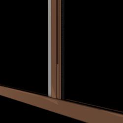Moustiquaire porte enroulable latérale kocoon marron Zoom C
