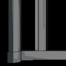 Moustiquaire porte enroulable latérale kocoon antracite Zoom B