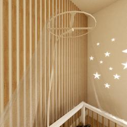 Moustiquaire ciel de lit bébé Zoom B