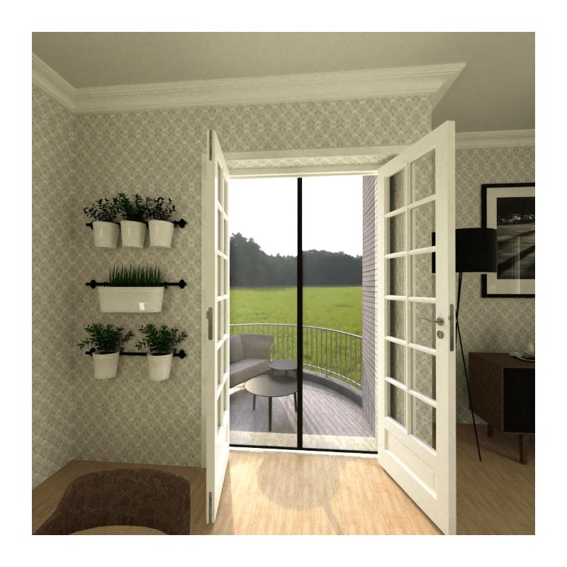 Moustiquaire fermeture magnétique pour porte (Rideau aimanté pour porte).