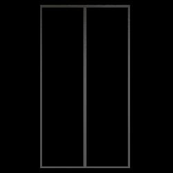 Moustiquaire fermeture magnétique pour porte (Rideau aimanté pour porte) détail.