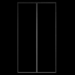 Moustiquaire fermeture magnétique pour porte (Rideau aimanté pour porte) détail 2.